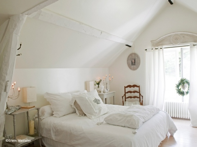 Quelle d coration chambre blanc for Decoration maison chambre