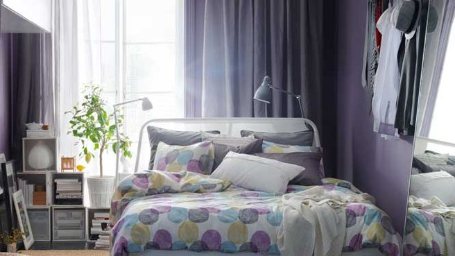 d coration chambre gris et violet. Black Bedroom Furniture Sets. Home Design Ideas