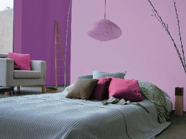 Inspiration d coration chambre gris et violet Chambre grise et mauve