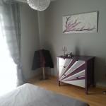 décoration chambre gris et violet