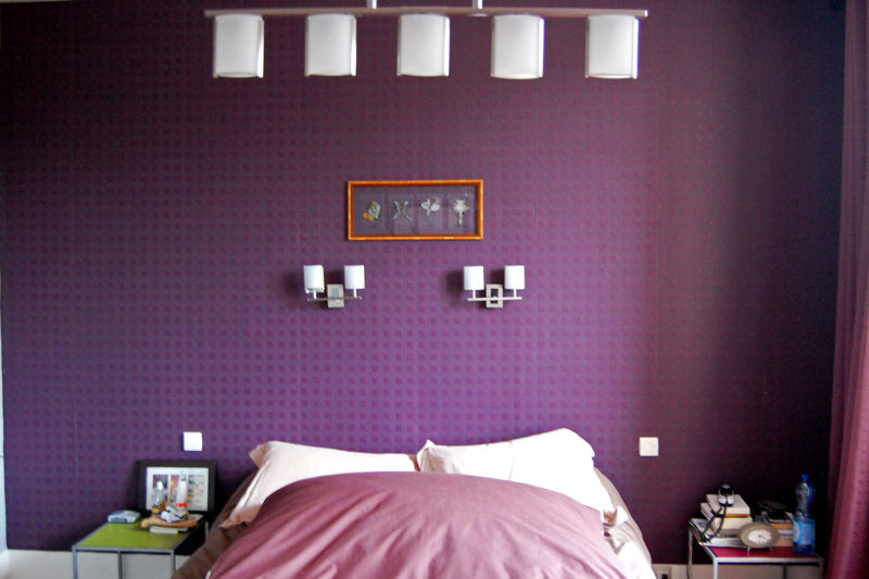 style d coration chambre gris et violet. Black Bedroom Furniture Sets. Home Design Ideas