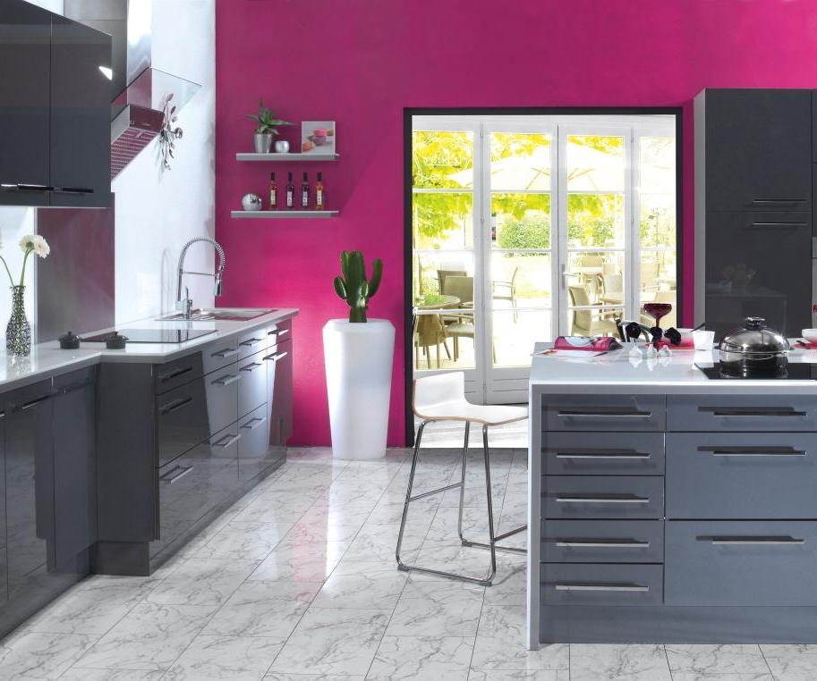 Inspiration d coration cuisine rose for Deco cuisine rose