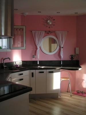 Photo d coration cuisine rose for Deco cuisine rose