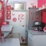 décoration cuisine rose