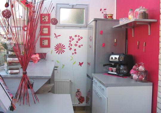 Style d coration cuisine rose for Decoration maison rose