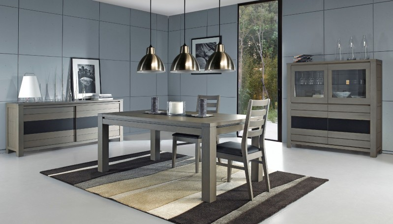 Inspiration d coration salle manger gris for Salle a manger gris