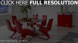 décoration salle à manger rouge