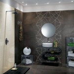 décoration salle de bain gris et violet