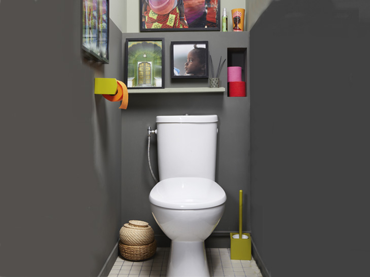 Jolie d coration wc toilettes tendance for Photo deco wc