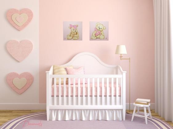 Mod le id e d co chambre b b marron - Modele de chambre bebe ...