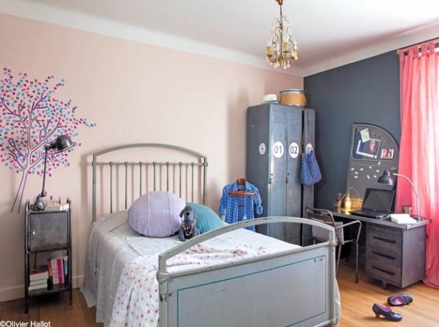 Deco violet chambre fille id e inspirante pour la conception de la maison - Idee deco chambre gris et mauve ...