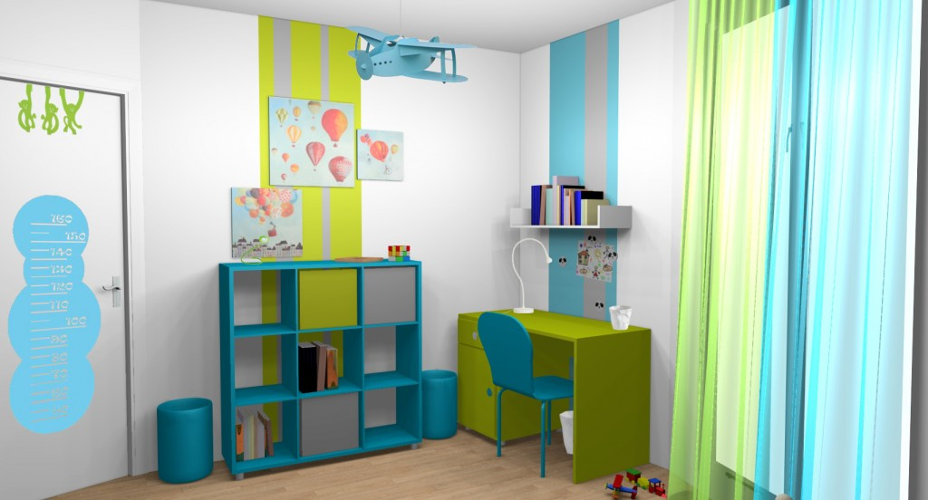 Mod le id e d co chambre fille turquoise for Modele deco chambre fille