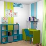 idée déco chambre fille turquoise