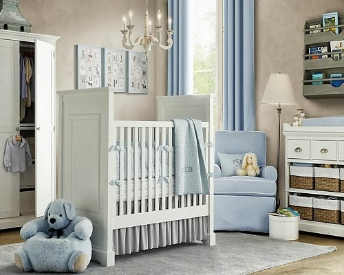 Inspiration id e d co chambre gar on bleu for Chambre bebe garcon deco