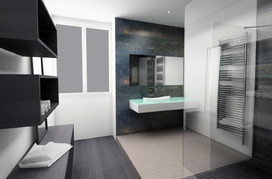 Photo id e d co salle de bain blanc for Idee deco salle de bain blanc