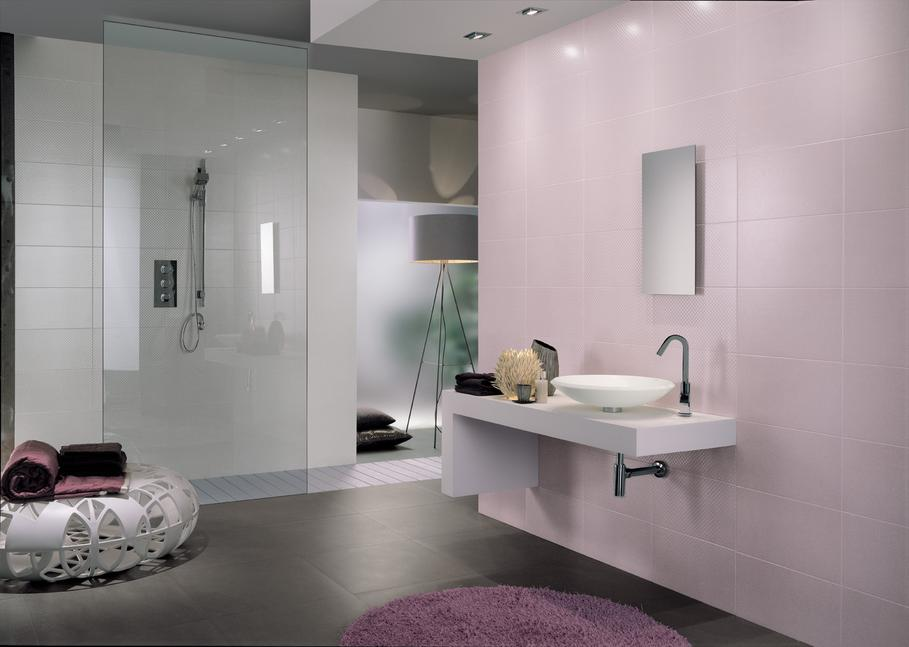 Photo Id E D Co Salle De Bain Gris Et Violet