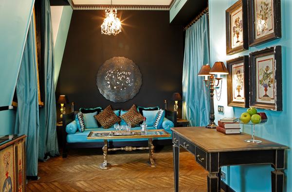 Id e d co salon turquoise for Deco turquoise salon