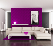 jolie id e d co salon violet. Black Bedroom Furniture Sets. Home Design Ideas
