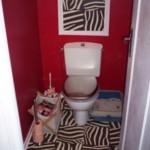 idée déco wc - toilettes ethnique