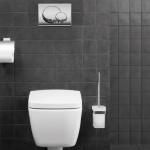 idée déco wc - toilettes rouge