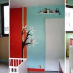 ambiance chambre fille turquoise
