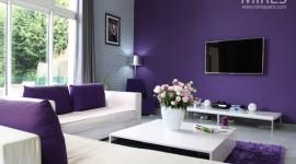 ambiance cuisine gris et violet