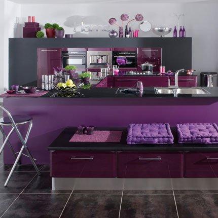 Quelle ambiance cuisine gris et violet for Deco violet et gris