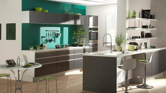 Conseil ambiance cuisine vert for Conseil cuisine