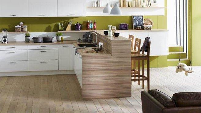 Jolie ambiance cuisine vert - Deco cuisine vert ...