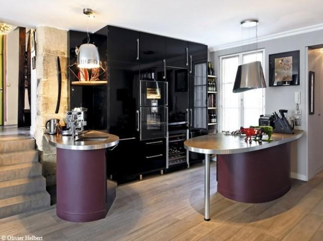Mod le d co cuisine gris et violet - Deco violet et gris ...