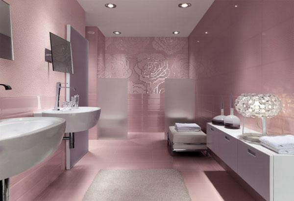 Nouvelle d co salle de bain rose for Salle de bain rose
