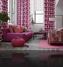 déco salon rose