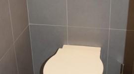 déco wc - toilettes gris