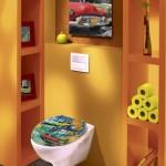 déco wc - toilettes jaune