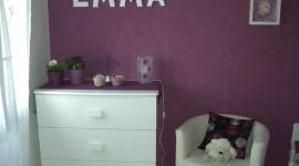 décoration chambre garçon violet