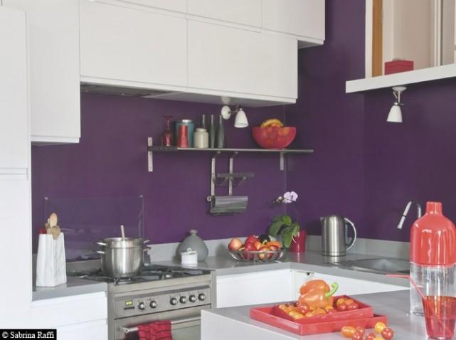 Jolie Decoration Cuisine Gris Et Violet