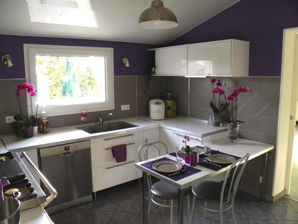 Photo Decoration Cuisine Gris Et Violet
