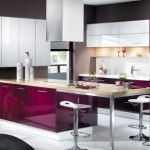 décoration cuisine gris et violet