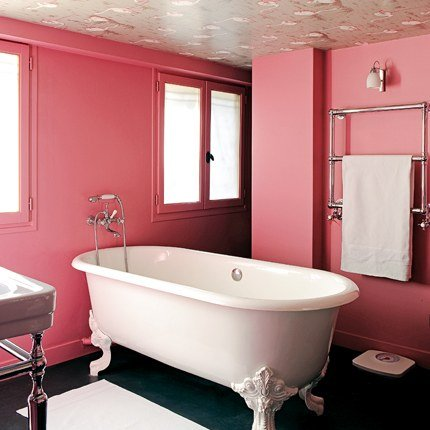 d coration salle de bain rose. Black Bedroom Furniture Sets. Home Design Ideas