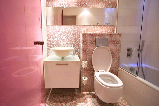 Photo d coration salle de bain rose for Deco salle de bain rose