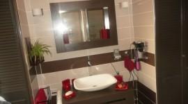 décoration salle de bain taupe