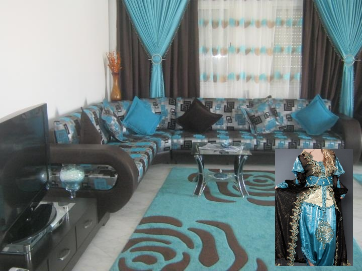 conseil décoration salon turquoise