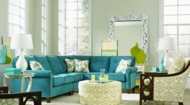 décoration salon turquoise