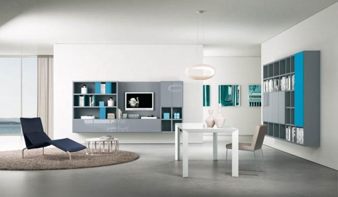 Nouvelle d coration salon turquoise for Salon turquoise et gris