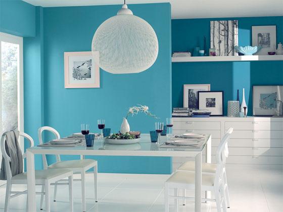Quelle d coration salon turquoise for Deco salon turquoise gris