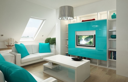 Awesome Decoration Salon Bleu Turquoise Contemporary - Design Trends ...