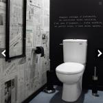 décoration wc - toilettes marron