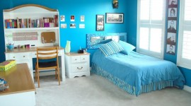 idée déco chambre fille bleu