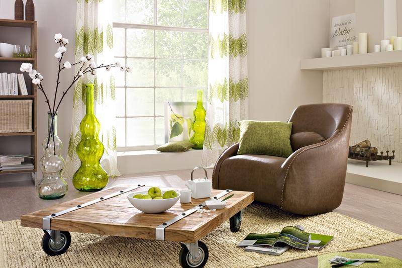 Id e d co salle manger marron - Decoration salle a manger marron et vert ...
