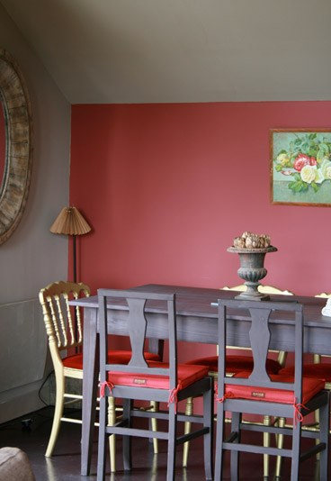 Conseil id e d co salle manger rouge - Idee decoration salle a manger ...